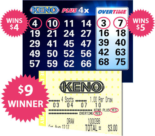 winning keno overtime ticket example
