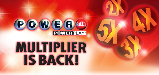 The PowerPlay feature on the PowerBall game changes from set prizes and returns to a multiplier