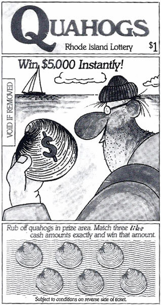 The Quahogs Instant Ticket, with artwork done by Don Bousquet, Rhode Island cartoonist goes on sale and sells out in just over 1 month